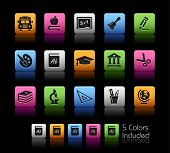 School & Education Icons // Color Box------It includes 5 color versions for each icon in different l