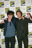 SAN DIEGO, CA - JULY 15: Matt Smith and Arthur Darvill arrive at the 2012 Comic Con convention press
