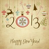 picture of happy new year 2013  - 2013 Happy New Year background - JPG