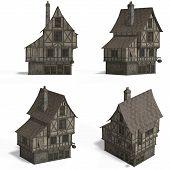 Medieval Houses - Bar poster