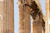 picture of olympian  - The Temple of Olympian Zeus also known as the Olympieion or Columns of the Olympian Zeus is a colossal ruined temple in the centre of the Greek capital Athens that was dedicated to Zeus king of the Olympian gods - JPG