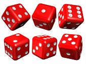 image of crap  - Set of red casino dices  - JPG