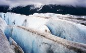 stock photo of crevasse  - The Taku Glacial crevasse in Juneau Alaska - JPG