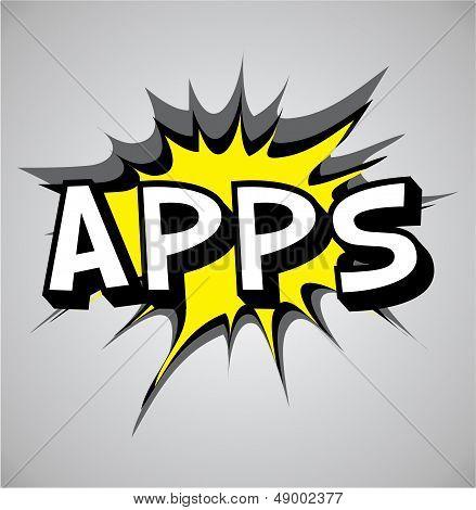 Comic Book Explosion Bubble - Apps