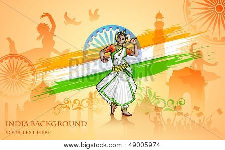 illustration of colorful culture of India