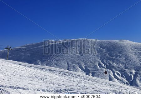Gondola Lift And Off-piste Slope