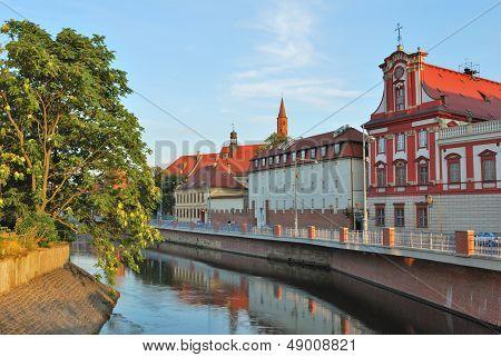 Wroclaw. Odra River Embankment