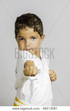 Boy Karate Punch