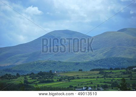 Slieve Donard and Slieve Commedagh in the Mourne Mountains Northern Ireland