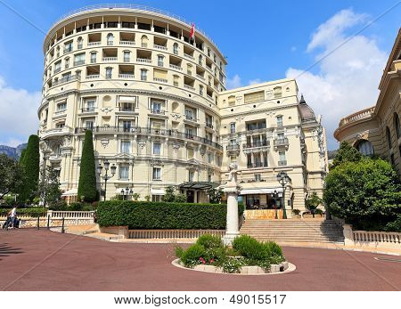 MONTE CARLO, MONACO - JULY 13: Luxury Hotel de Paris - 5 star hotel opened in 1863, contains 187 rooms with exclusive city and sea views and Presidential suite in Monte Carlo, Monaco on July 13, 2013.