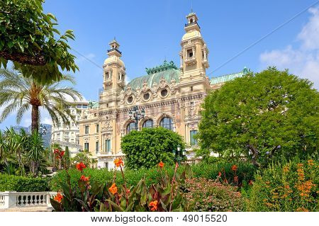 MONTE CARLO, MONACO - JULY 13: Salle Garnie - gambling and entertainment complex designed by Charles Garnier, opened in 1879, includes Casino and opera house in Monte Carlo, Monaco on July 13, 2013.