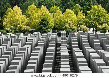 BERLIN, GERMANY - SEPTEMBER 22: Jewish Holocaust Memorial September 22th, 2011 at Berlin, Germany