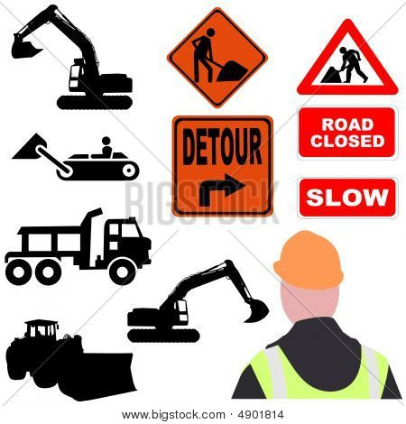 Assorted Roadwork Illustrations