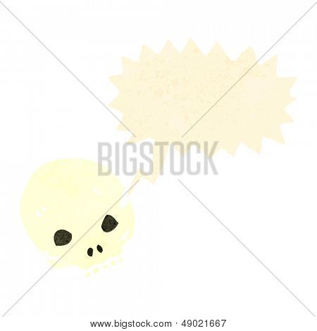 cartoon shrieking skull
