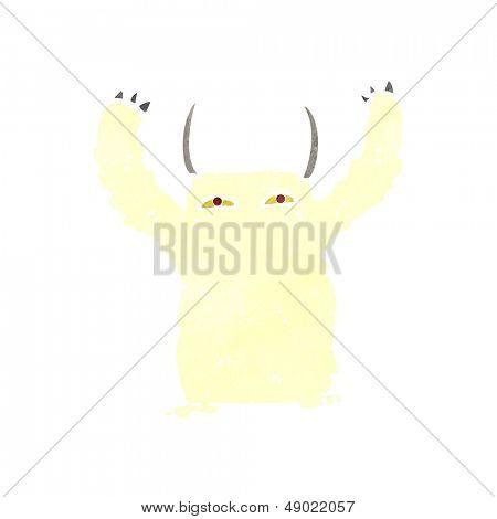 cartoon yeti monster