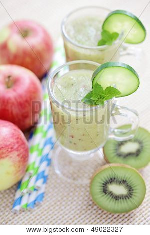delicious fruity smoothie - food and drink