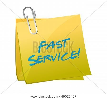 Fast Service Written On A Post. Illustration