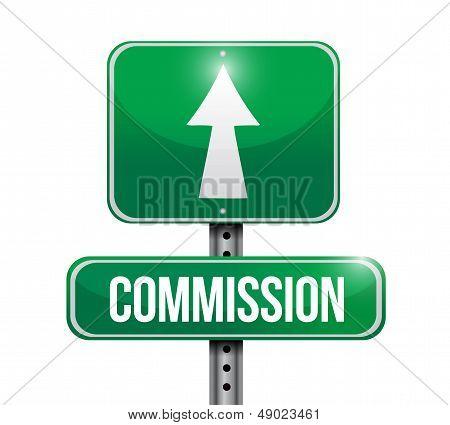 Commission Road Sign Illustration Design