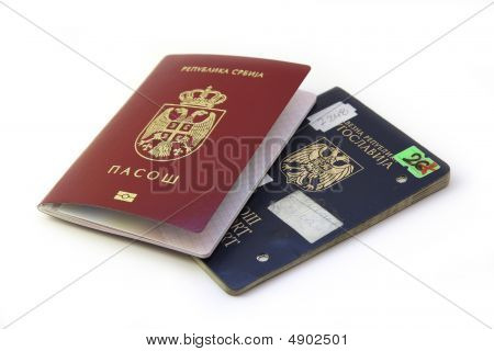 New Over Old Serbian Passport