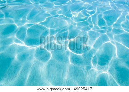 blue sea water caustics background