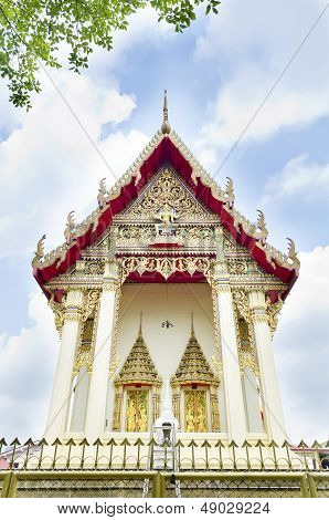 Beautiful Thai Buddhist Temple. Wat Ka Ma La Vat, Bangkok, Thailand.