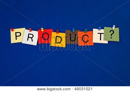 Product - Sign Series For Business Terms.