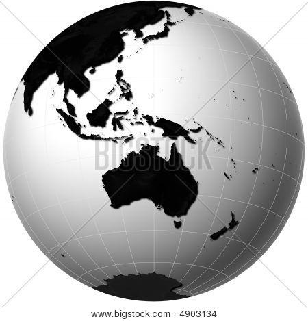 Globe With Australia View