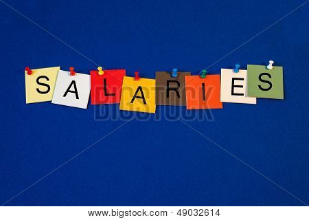Salaries - Sign For Business / Finance.