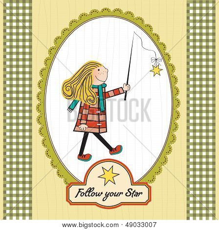 Girl Following A Star