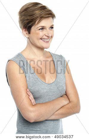 Portrait Of Beautiful Female Model Looking Away