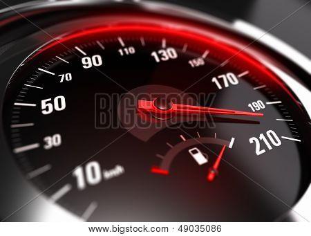 Buitensporige versnelling onvoorzichtig rijden Concept