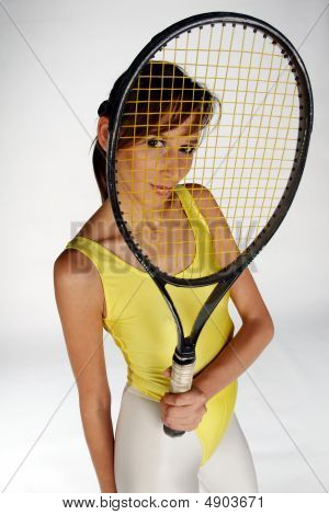 Posing With Tennis Racket