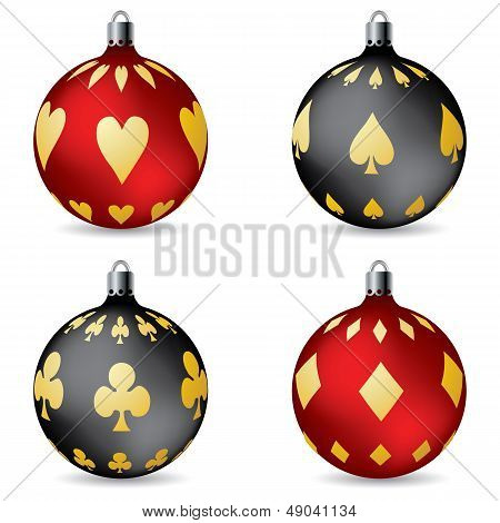 Poker Christmas Decorations