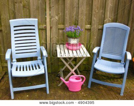 Lavender Blue Garden Setting