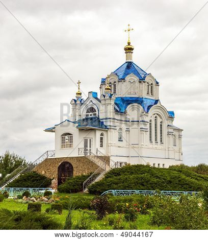 Church Of The Mgar Monastery. Ukraine.