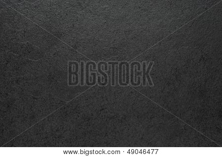 a closeup shot of a slate plate