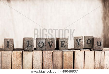 Wood Cube Make Message