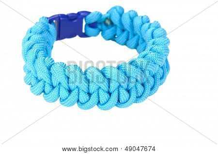 550 Parachute cord (paracord) survival Bracelet using a Shark Jaw bone or Piranha weave