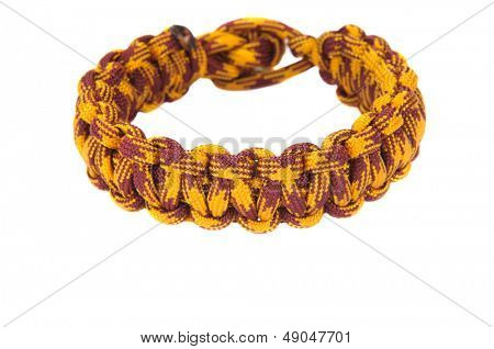 550 Parachute cord (paracord) survival Bracelet using a cobra weave