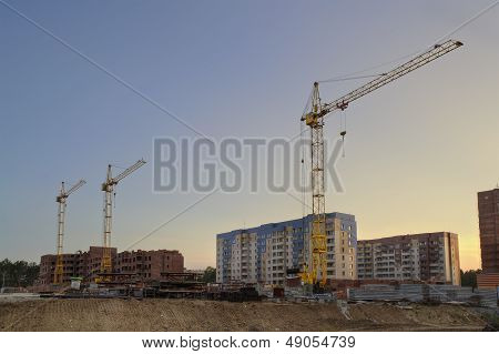 The Construction Of New Apartment Houses