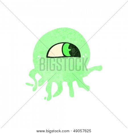 retro cartoon weird jellyfish alien
