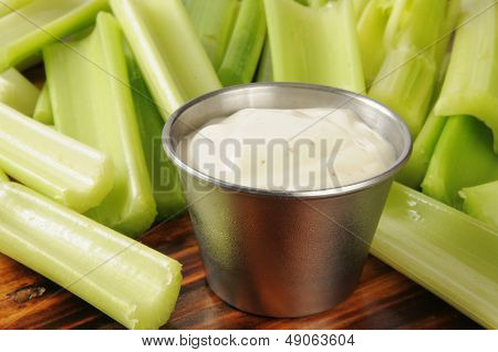 Celery And Ranch Dressing