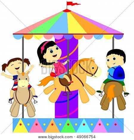 Children On The Carousel