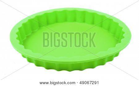 Green round silicone cake form (Tart Tin).