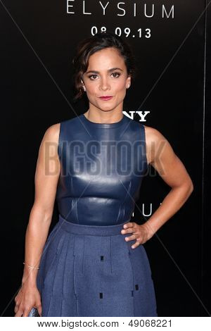 LOS ANGELES - AUG 7:  Alice Braga arrives at the
