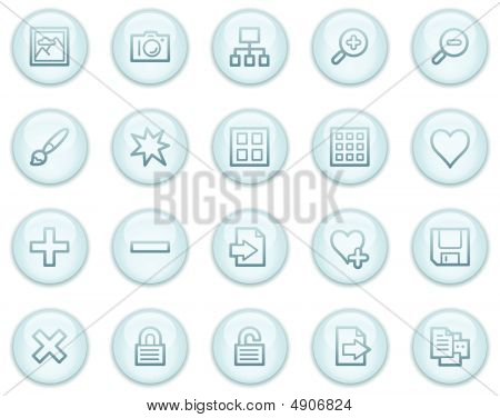 Image Library Web Icons, Light Blue Circle Buttons Series