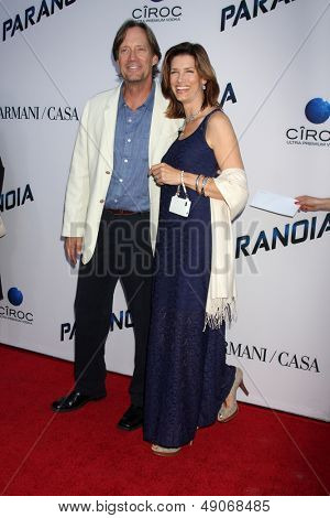 """LOS ANGELES - AUG 8:  Kevin Sorbo, Sam Sorbo arrives at the """"Paranoia"""" Los Angeles Premiere at the Directors Guild of America on August 8, 2013 in Los Angeles, CA"""