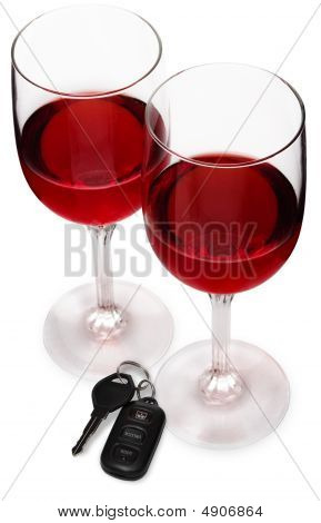Wineglasses With Car Keys