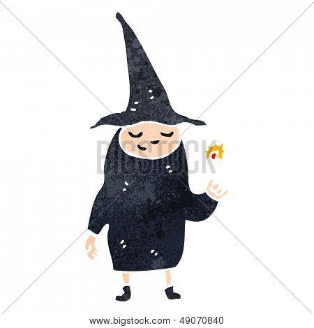 retro cartoon witch