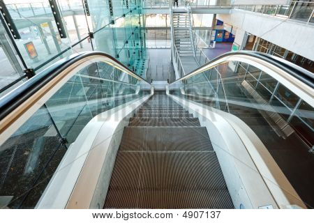 Escalators In Airport